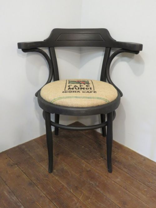 antique thonet bentwood classic bistro armchair re covered 1900