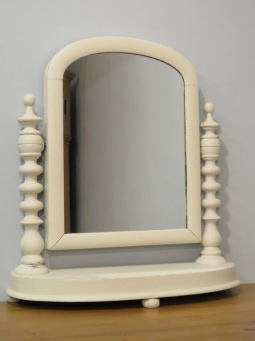 antique victorian painted pine dressing table mirror 1880