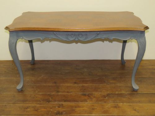 Antique French Parquet Top Coffee Table 1920