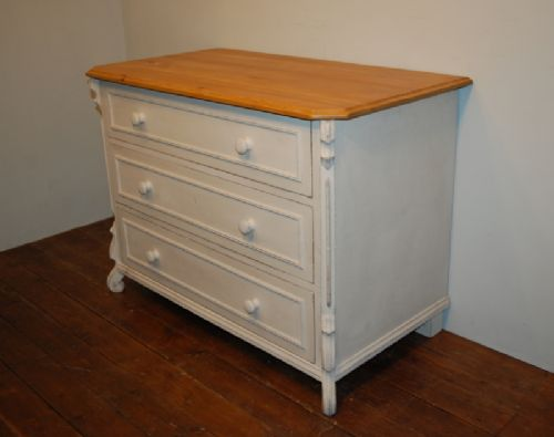 antique painted pine louis philippe chest of drawers 1870