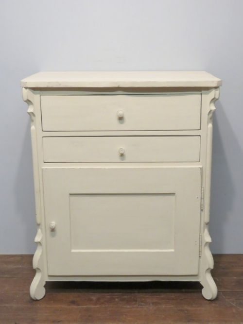 antique painted pine louis philippe side cabinet 1870