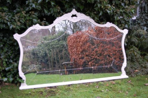 antique french louis xv revival over mantle mirror large 1900