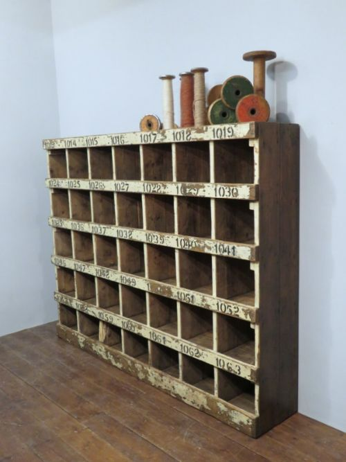 victorian pine pigeon hole shelf unit with numbers 1880