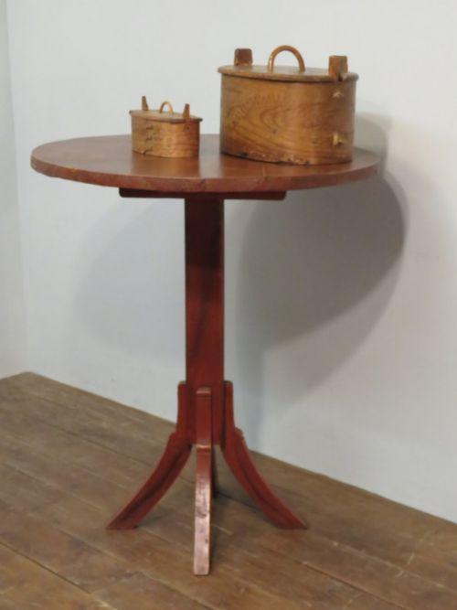 antique swedish primitive tavern table in original paint 1850