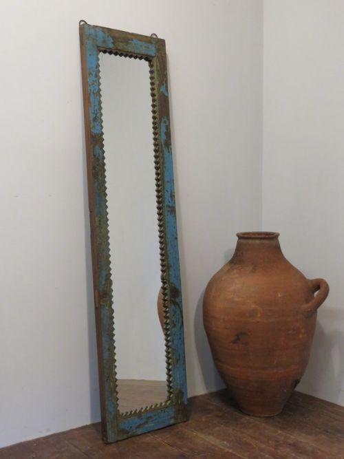 antique mirror in original paint hardwood frame 1880