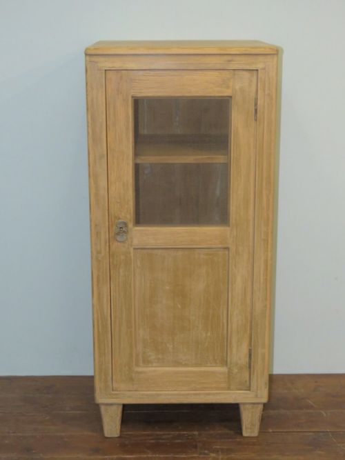 antique pine miniature storage cupboard in old paint 1900
