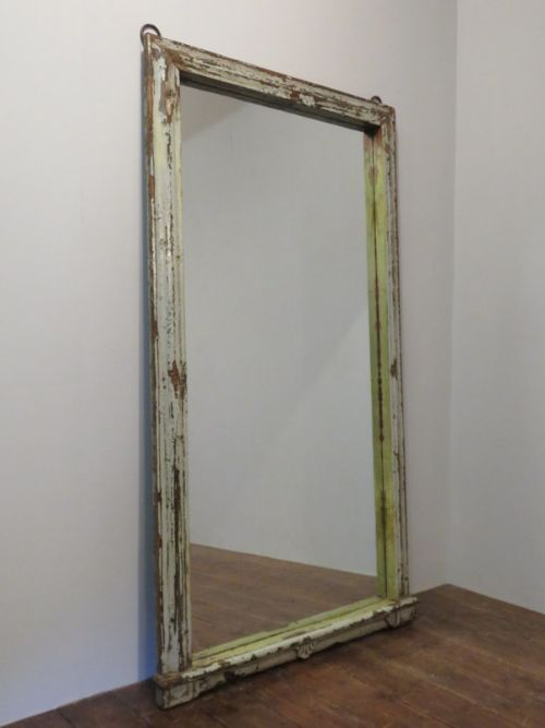 antique carved mirror frame in original paint 1860