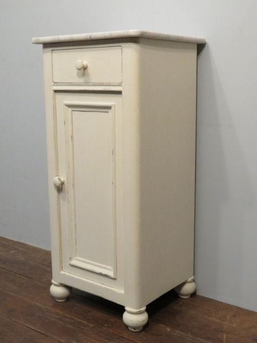 antique victorian small painted pine side cabinet