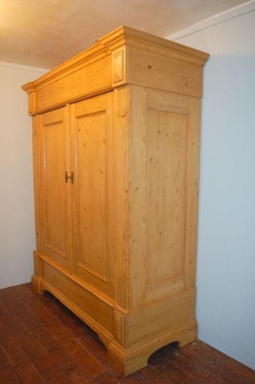 antique large period pine wardrobe armoire 1820 dismantles