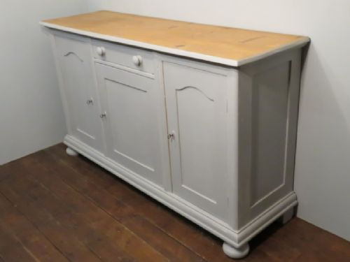 antique painted pine kitchen dresser base island 1870