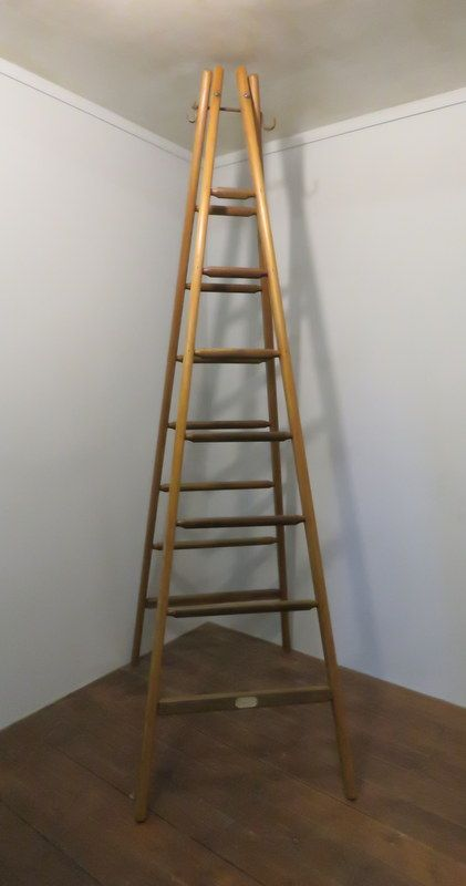 antique french pine and oak fruit picking ladders 1900