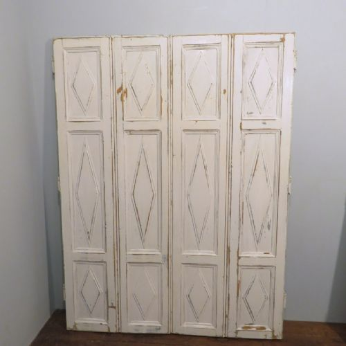 antique pair of french pine window shutters 1880 pair no 2