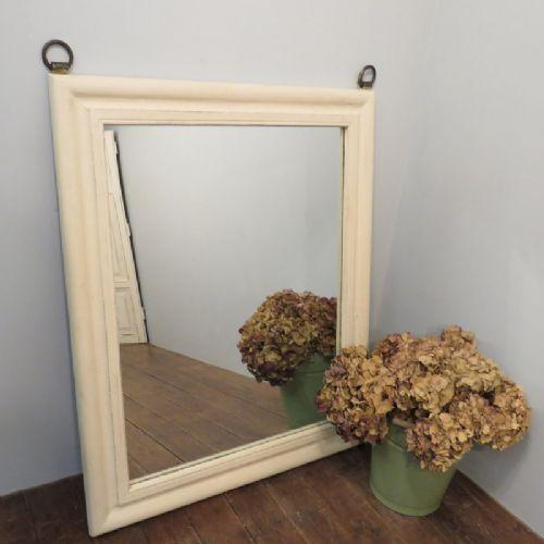 antique rustic hardwood frame mirror 1880