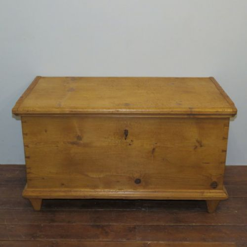 antique pine dowry chest or blanket box 1870