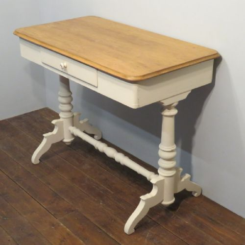 antique painted pine louis philippe console table 1870