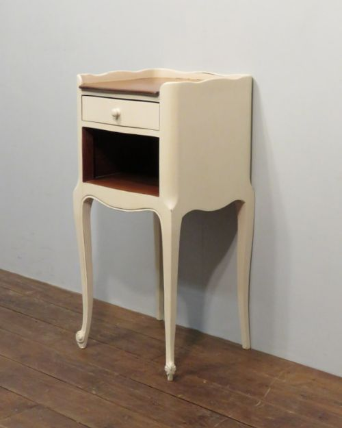 vintage french painted cherry side cabinet