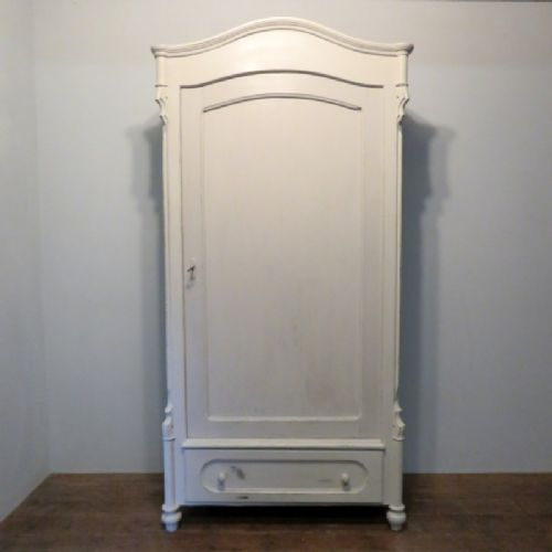 antique painted pine louis philippe linen storage cabinet 1870