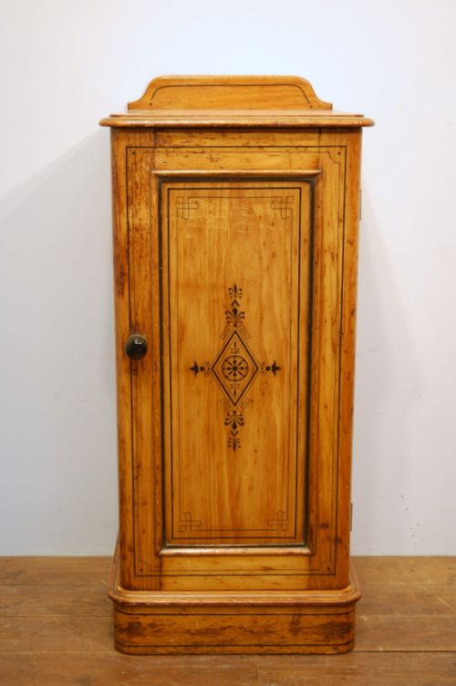 small victorian pine cabinet in original decorative paint 1870