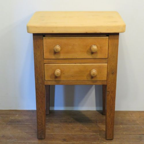 antique victorian pine and fruitwood gnr two drawer side table 1880