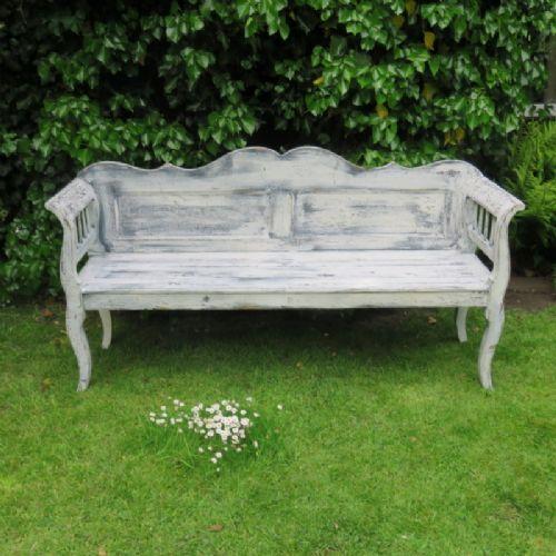 antique rustic pine farmhouse settle bench 1880