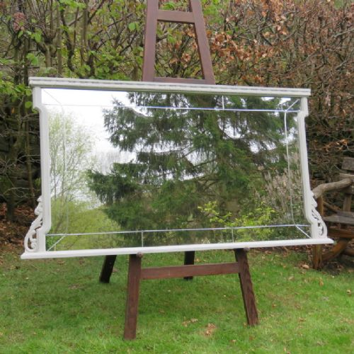 antique large french spanish modernista overmantle mirror oak 1900