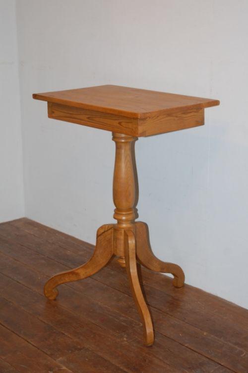 antique swedish pine tripod pedestal wine table side table 1880