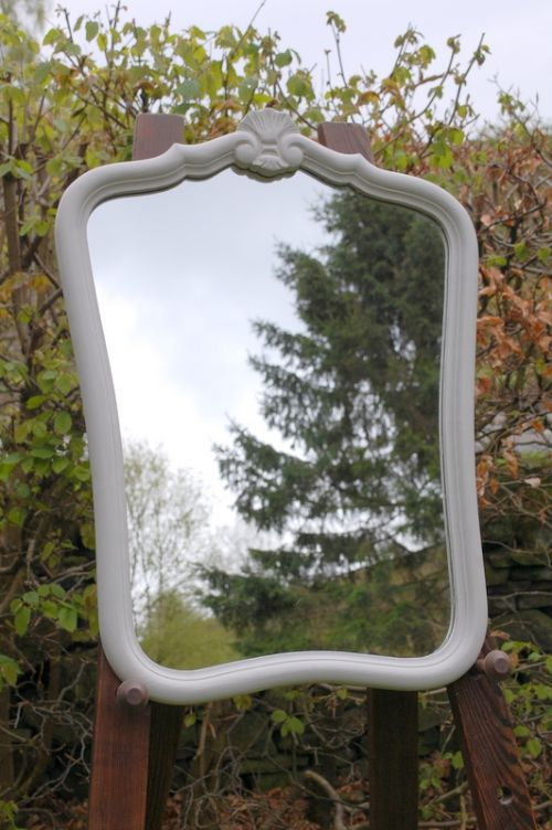 antique french wall hung mirror louis xv style 1900