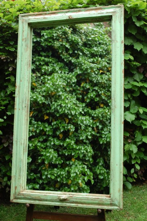 antique rustic original paint hardwood mirror 1870