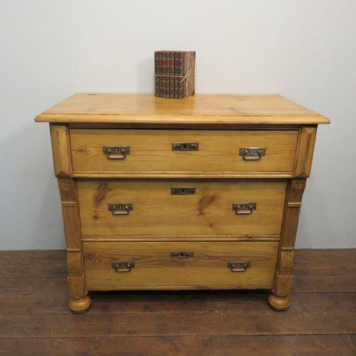 antique pine chest of drawers art nouveau 1900
