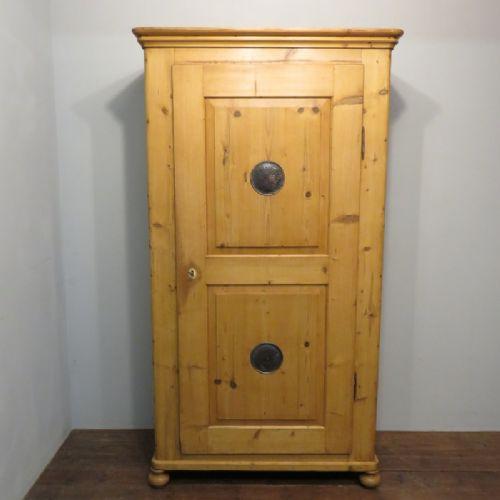 antique slim pine storage linen or larder cupboard 1880