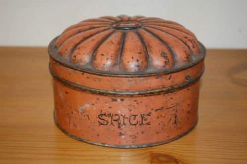 antique regency tole ware spice tin in original paint