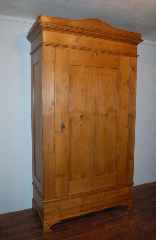antique pine single door wardrobe dismantles 1850