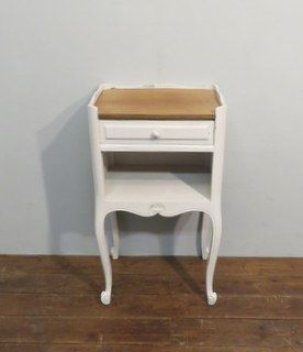 antique french painted oak bedside cabinet 1900