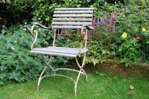 Enjoyable Antique French Folding Garden Arm Chair 51598 Download Free Architecture Designs Embacsunscenecom