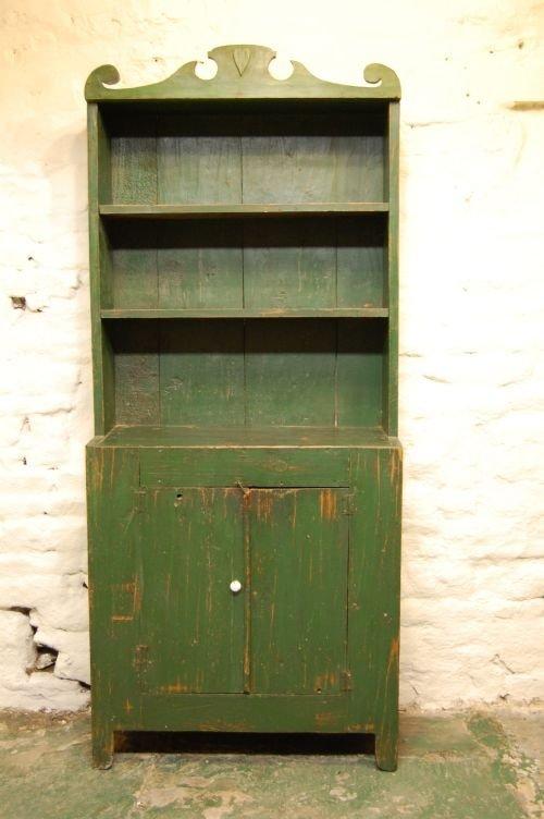 antique pine farmhouse dresser in original paint