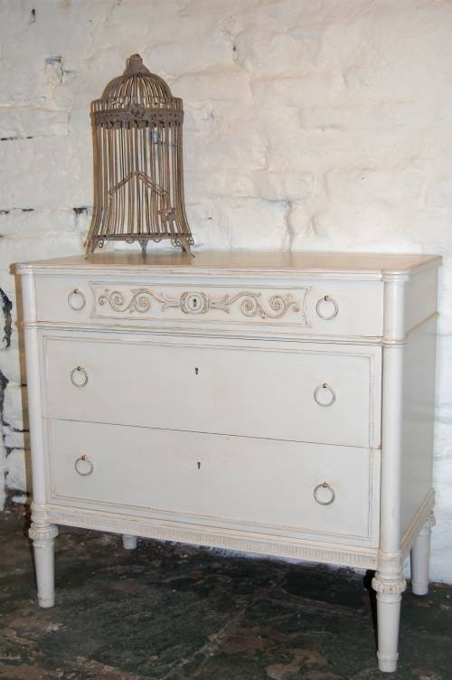 gustavian oak chest of drawers