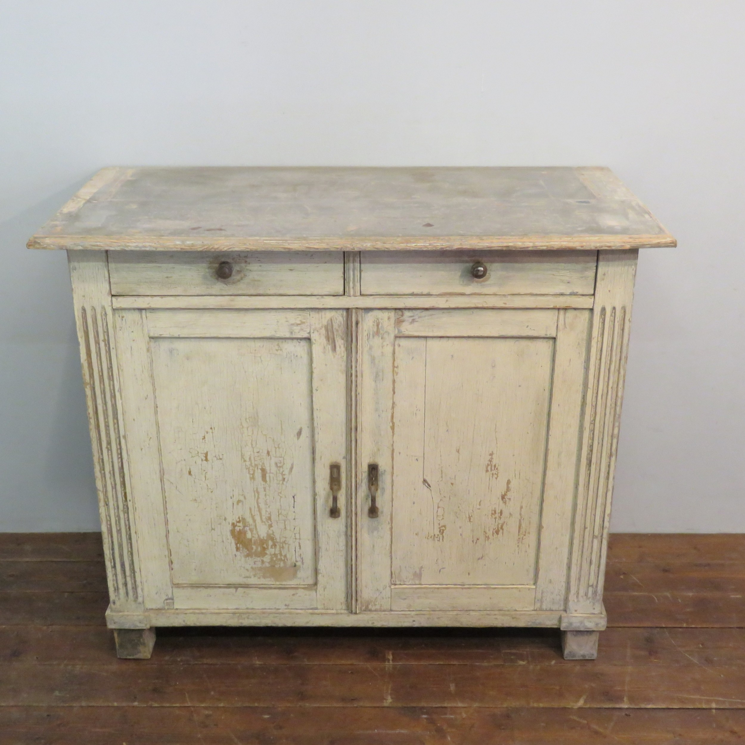 antique pine kitchen dresser base in original distressed paint finish 1860