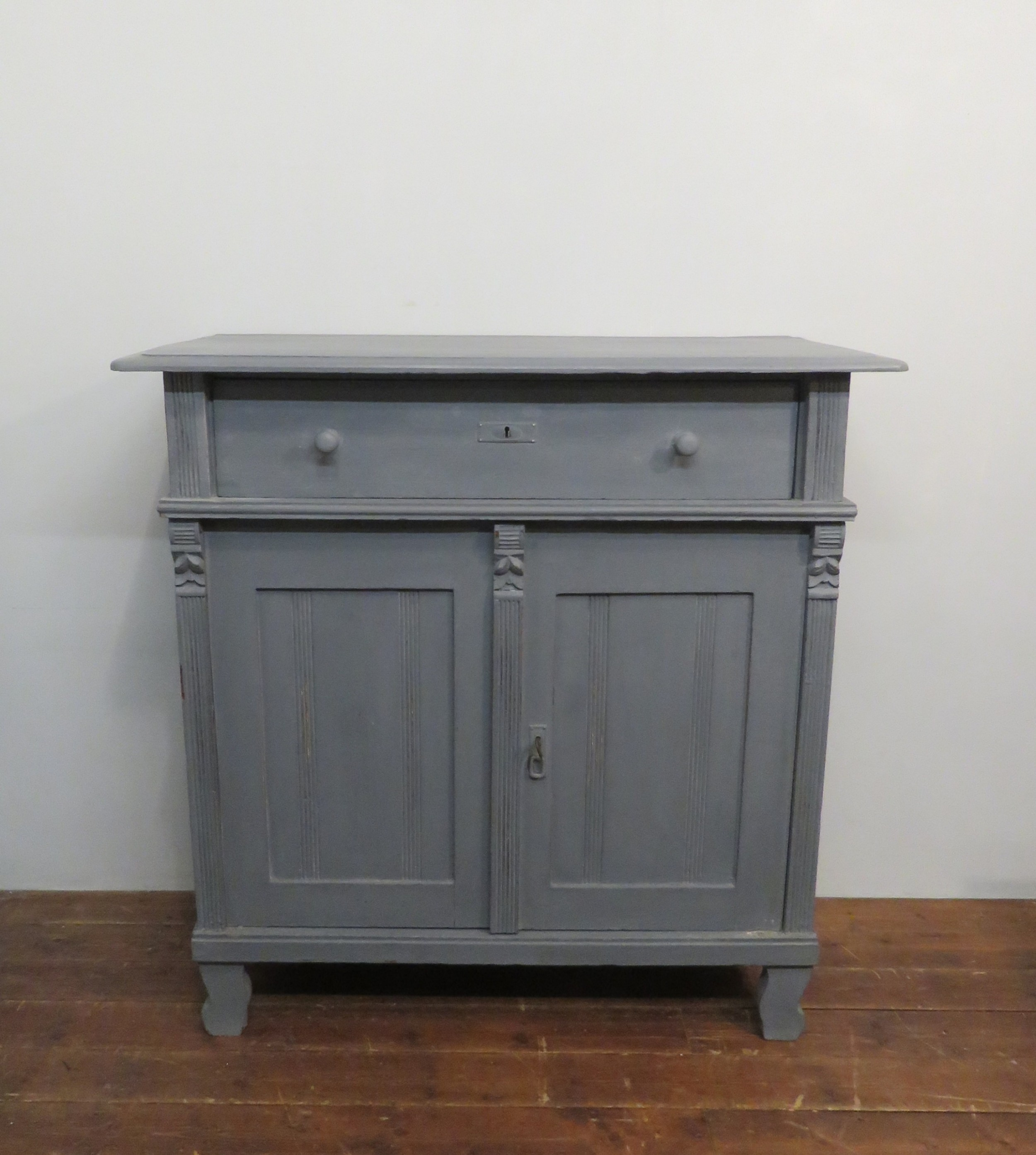antique rustic re painted pine dresser base hungarian 1880