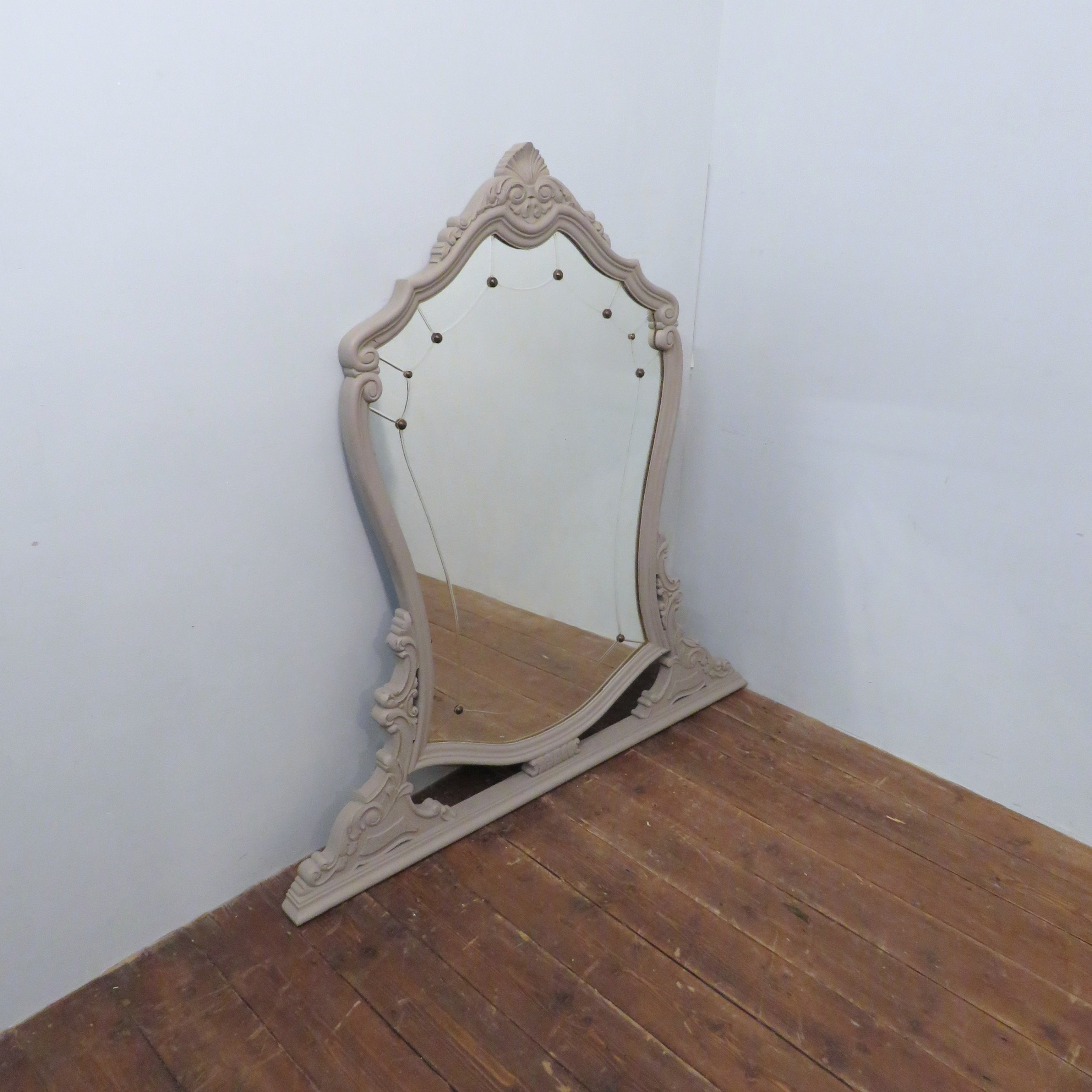 antique french louis xv revival overmantle or dressing mirror 1890