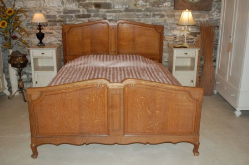 Art deco inspired hollywood king size bed for sale at stdibs