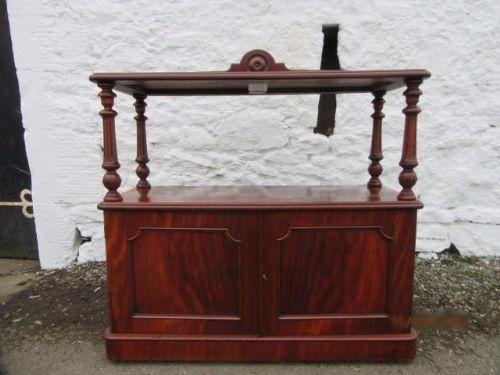 mid victorian mahogany open buffet sideboard