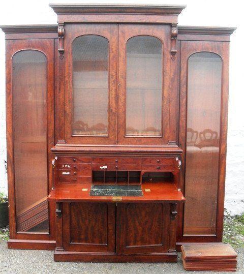 a rare william 1v mahogany breakfront secretaire bookcase reduce by 30