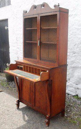 a superb regency mahogany secretaire bookcase