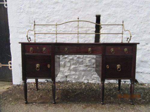 h mower stephenson georgian mahogany brass gallery sideboard