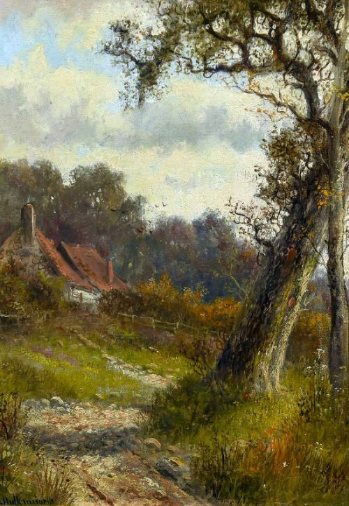 pr abraham hulk junior oil painting 18511922 rural landscapes