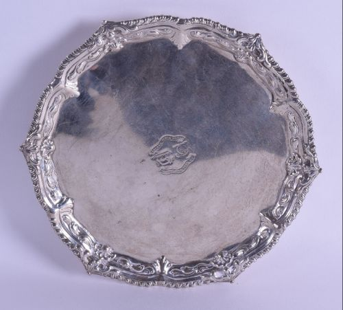 a mid 18th century george 111 silver salver