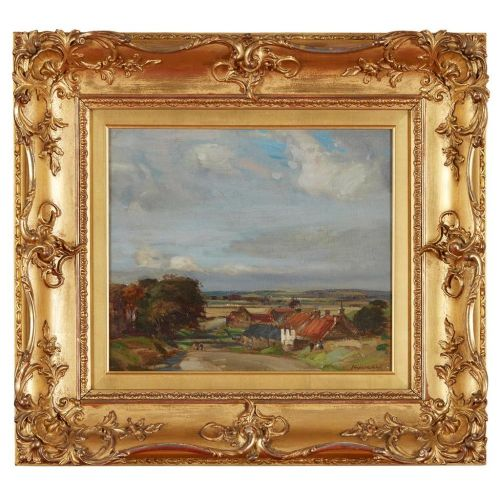 john campbell mitchell rsa scottish 18621922 oil painting