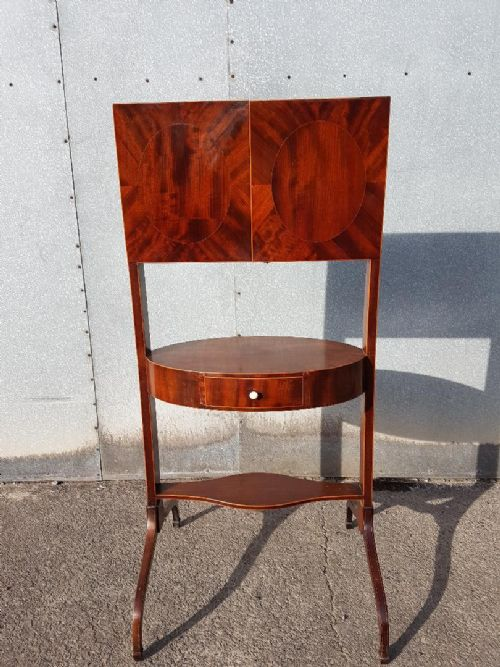 a georgian crossbanded mahogany triplate miniture dressing table