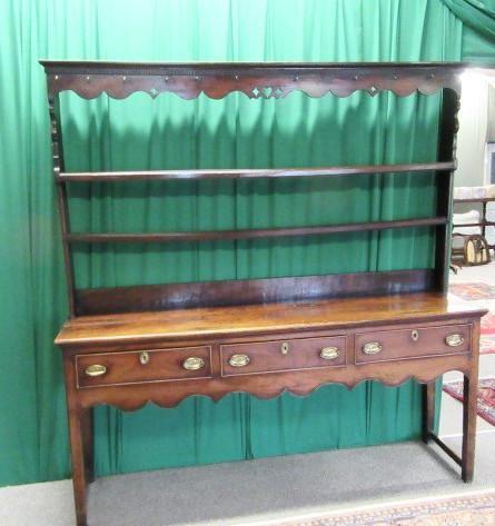 georgian 18th century welsh fruitwood plate back dresser