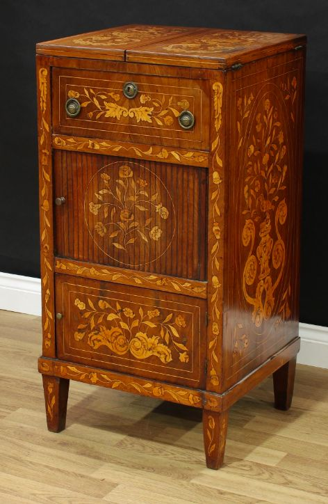 a 19th century dutch mahogany and marquetry washstand